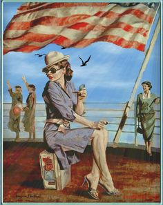 "Fine Art and You: British Artist-""Peregrine Heathcote"" 1973 Art Deco Posters, Vintage Posters, Florence Academy Of Art, Pin Up Pictures, Art Deco Artists, Peregrine, Pulp Art, Edward Hopper, Retro Art"