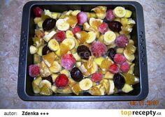 Pečený čaj na zkoušku recept - TopRecepty.cz Fruit Salad, Oatmeal, Food And Drink, Drinks, Breakfast, The Oatmeal, Beverages, Rolled Oats, Fruit Salads