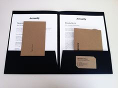 Actually's branding package - inserts.