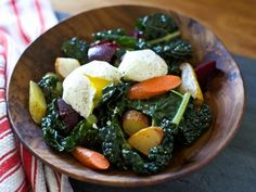 Easy and delicious looking :: The holiday experts at HGTV.com share an easy, healthy kale salad recipe that's a perfect brunch menu item.