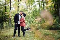 Our backyard in Mississippi Mills, ON is the perfect woodland for a romantic session Fall Engagement, Engagement Session, Engagement Photos, Early Autumn, Dog Friends, Mississippi, Photo Sessions, Lush, Woodland
