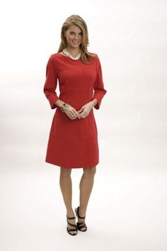 Martin Dress in Red by Elizabeth McKay at www.Margaret-Simms.com - receive 10% off during our GAMEDAY sale which ends today.
