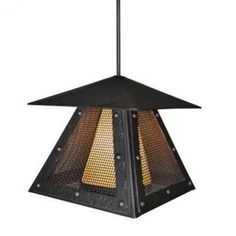 Steel Partners Rogue River 1 Light Outdoor Hanging Lantern Finish: Architectural Bronze, Shade Type: Bungalow Green