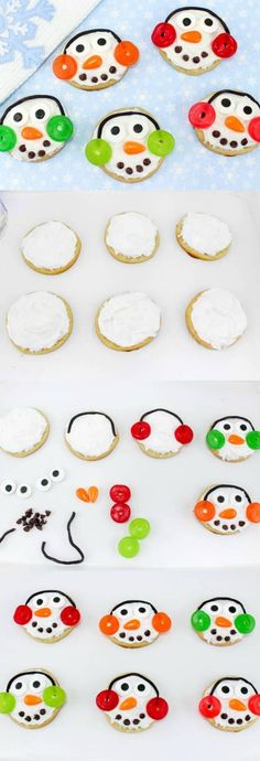How to make Snowman Sugar Cookies. The perfect easy Christmas Cookie Recipe!, How to make Snowman Sugar Cookies. The perfect easy Christmas Cookie Recipe! Easy Christmas Cookies Decorating, Christmas Cookies Kids, Easy Christmas Cookie Recipes, Christmas Sweets, Christmas Cooking, Christmas Goodies, Holiday Cookies, Simple Christmas, Cookie Decorating