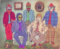He-Man Hipsters from Old School Heroes series by Fab Ciraolo