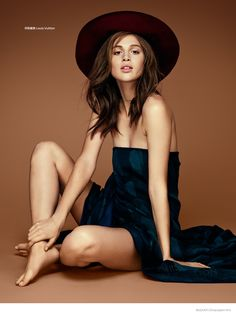 sitting  Anais Pouliot Impresses in 70s Styles for Bazaar China by Jason Kim