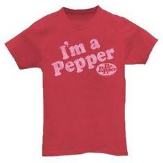 """Vintage Logo Tees: Dr. Pepper """"I'm a pepper"""""""