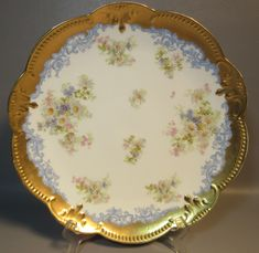 An superbly, hand painted charger plate by A.K. (Klingenberg) Limoges France. Has the circular AK hallmark. MAKER : AK Klingenberg Limoges France. YEAR : c1880. OVERALL CONDITION (SEE SCALE BELOW) : C8-Near mint. | eBay!