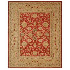 Safavieh Handmade Anatolia Traditional Oriental Red/ Ivory Hand-spun Wool Rug (8' x 10')