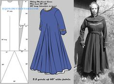 Dress Tutorial and other patterns for medieval attire