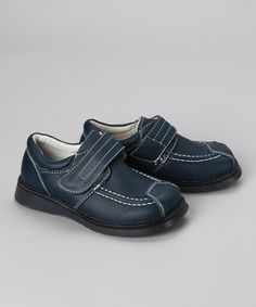 Take a look at this Navy Leather Loafer by Pippytoes on #zulily today!