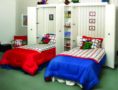 And just like that, your #children's beds fold out of the wall for a comfortable and peaceful night's #sleep.
