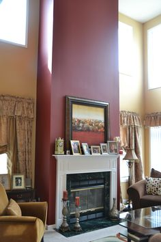 Accent Wall for Mantel/Fireplace
