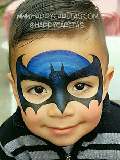 Batman mask by happy caritas for bookings go to happycaritas com batman bookings caritas happy mask happycaritascom easy one stroke butterfly by elodie ternois Face Painting Tutorials, Face Painting Designs, Paint Designs, Girl Face Painting, Body Painting, Face Paintings, Batman Face Paint, Batman Painting, Batman Maske