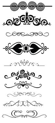 Free borders swirls and flourishes and lots more from KLDezign SVG