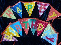 fabric happy birthday bunting $48.00