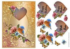 LOVE BIRD on Craftsuprint designed by Karen Nash - A great topper with extras for layering - Now available for download!