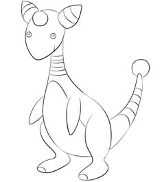 Click to see printable version of larvitar coloring page for Ampharos coloring pages