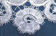 Handmade Needle Lace Just Follow the Thread to identify machine or handmade lace - needle lace follows the pattern. Machine lace thread is only horizontal or vertical.