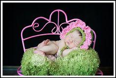 Custom Crochet Flower Baby Bonnet by CricketCreations on Etsy, $24.00