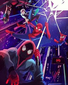 """""""My name is Miles Morales. I'm the one and only Spider-man.at least that's what I thought"""" - Miles Morales, Into the Spider-verse trailer 2 Anyone el. Into the Spider-Verse Spiderman Kunst, Spiderman Spider, Spider Gwen, Amazing Spiderman, Spiderman Gratis, Spider Man Comic, Noir Spiderman, Marvel Comics, Marvel Heroes"""