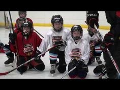 Daniel Carcillo, Jamal Mayers and Ben Eager take over youth hockey practices to host Blackhawks Alumni Clinics.