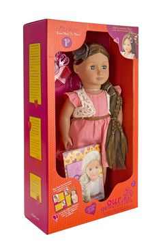 Our Generation Hair Grow Doll - Parker Delivery for sale online Our Generation Doll Accessories, Our Generation Dolls, Cosas American Girl, Kids Furniture, Furniture Design, Grow Hair, Cute Pink, Girl Dolls, Style Guides
