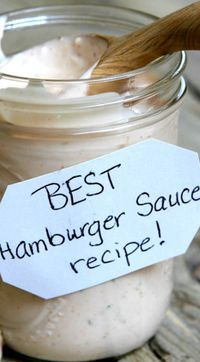 Best Burger Sauce Ever ~ Truly the best sauce to add to your burgers:
