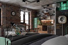 Proiect de amenajare cu piese de mobilier multifuncționale pentru un loft de 53 m² din Moscova