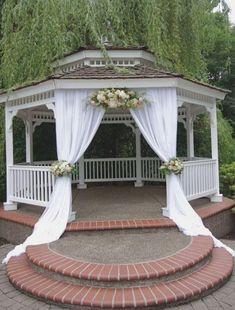 Diy Wedding Gazebo, Wedding Arch Rental, Gazebo Wedding Decorations, Pavilion Wedding, Wedding Arch Rustic, Wedding Ideas, Indoor Wedding Venues, Wedding Centerpieces, Outdoor Weddings