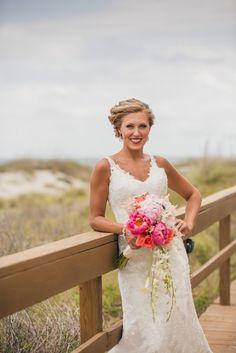 Charleston Destination Weddings - Wild Dunes Resort - OK Florist - Richard Bell Photography - Coral and Turquoise