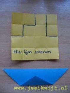 Sinterklaas knutsel stoomboot vouwen Origami, School, Maths, December, Decor Ideas, Seasons, Fall, Anchor, Autumn