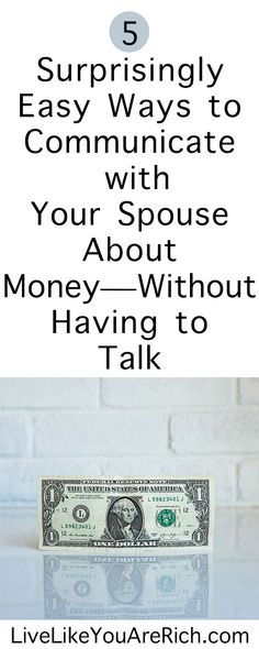 5 Surprisingly Easy Ways to Communicate with Your Spouse About Money—Without Having to Talk