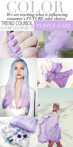 Purple Haze - Spring 2015 ...just painted my nails this color. i am in love with pastels right now. purple peach blues.