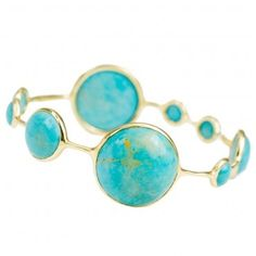 Lollipop Station Bangle in Turquoise