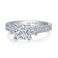 Kirk Kara Stella Collection with 0.80ctw in diamonds and hand engraving #K1361DER