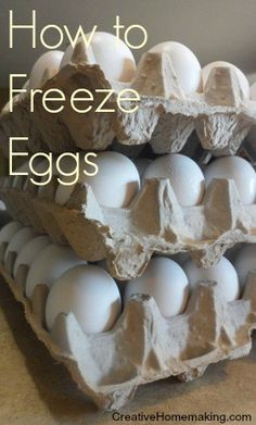 Extra eggs? Find out how you can prepare eggs in recipe-sized portions and freeze them for up to one year.