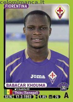 Calciatori 2014-2015: Fronte Figurina n. 154 Babacar Khouma