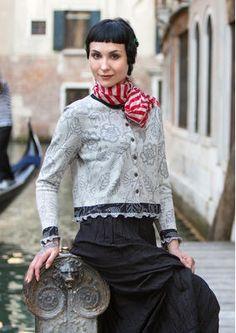 "Strickjacke ""Venezia"" aus Baumwolle"