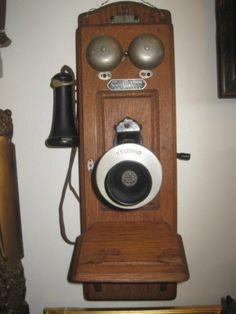 Antique Telephone, Early 1900's KELLOG Wood Telephone, Sumter Telephone Mfg Co