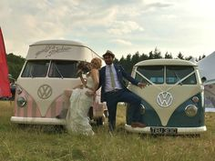 A beautiful wedding with Florence our Vw vintage ice cream van ~ available for hire ♡ http://www.pollys-parlour.co.uk/
