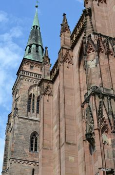 St. Sebaldus Lutheran Church, Nuremberg. Built 1225 - '75, Roman Catholic until the Reformation.  Imagine, a Lutheran cathedral!