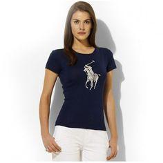 Ralph Lauren Refined Polo Navy Breathable Women Short Sleeved http://www.ralph