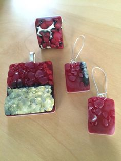 Handmade, fused glass jewelry by Miss Olivia's Line. #MOL Additional items posted at https://www.facebook.com/MissOliviasLine #FourthofJuly #July4th #USA #redwhiteandblue #America #American #Patriotic