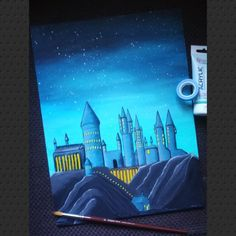 #howarts #harrypotter #painting #acrylic Harry Potter, Hogwarts, My Arts, Painting, Painting Art, Paintings, Painted Canvas, Drawings