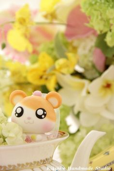 LOvely  hamster and raccoon Wedding Cake Topper by kikuike on Etsy, $140.00