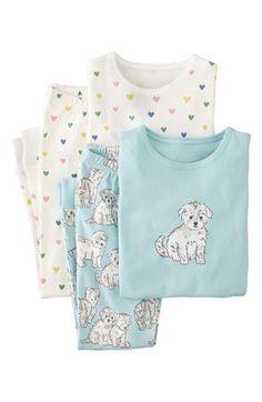NWT 6 7 8 9 Mini Boden Pink Cotton Pajamas Toy Pattern Rocking Horse Tea Cup