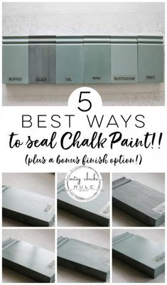 5 Top Ways To Seal Chalk Paint (or Milk Paint!) 5 TOP Ways To SEAL Chalk Paint! Pros and cons of each plus brands to try! These are also perfect for sealing Milk Paint! Sealing Chalk Paint, Best Chalk Paint, Chalk Paint Cabinets, Chalk Paint Finishes, Chalk Paint Projects, Chalk Paint Brands, Chalk Paint Colors Furniture, Annie Sloan Chalk Paint Colors, Chalk Paint Dresser