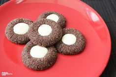 Mint Chocolate Thumbprint Cookie