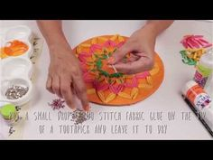 Recycled Rangoli With Quilling Design - YouTube